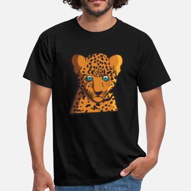 Cheetah Funny baby leopard animal kid as a gift idea - Men's T-Shirt