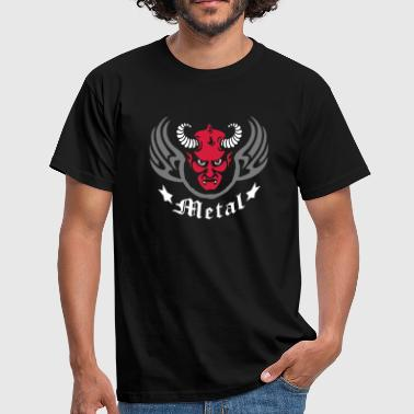 Lucifer metal_devil_3c - Mannen T-shirt