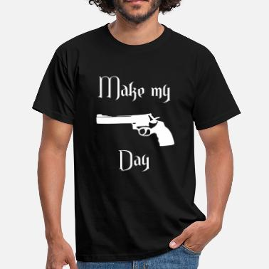 Smith Pistole make my day - Männer T-Shirt