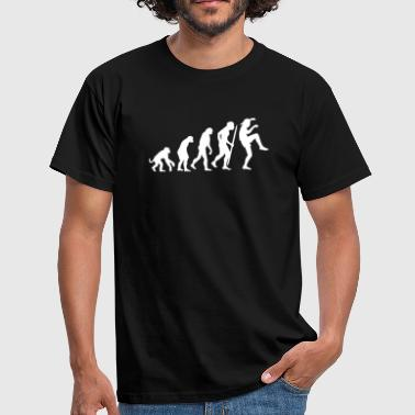 Evolution of Karate Kid Kraanvogel techniek - Mannen T-shirt