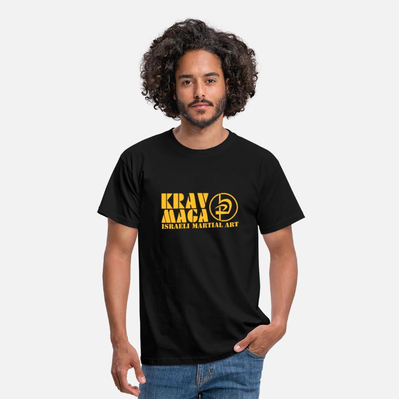 Fight T-Shirts - Krav Maga Logo - Men's T-Shirt black