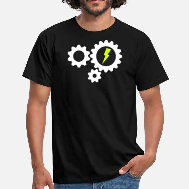 Bike Cog Gear cogs lightning - Men's T-Shirt