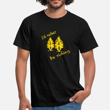 Twin rather be riding yellow - Männer T-Shirt