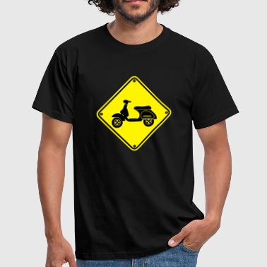Warning Vespa 1 - Men's T-Shirt