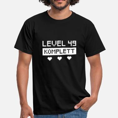 16bit Gamer Level 49. Geburtstag Retro Pixel Bit Design - Männer T-Shirt