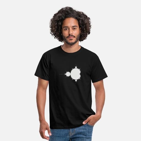 Geek T-Shirts - Mandelbrot Fractal Grey - Men's T-Shirt black