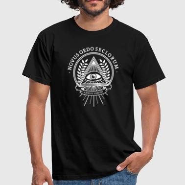 Pyramid illuminati conspiracy eye pyramid mystery - Men's T-Shirt