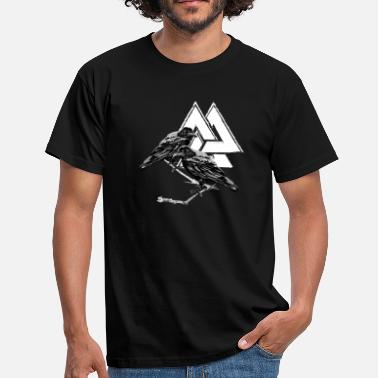 Odin Viking Hugin Munin! Odin! Viking! Vikings! - Men's T-Shirt