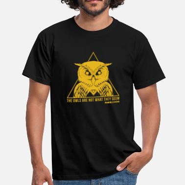 David Lynch THE OWLS ARE NOT WHAT THEY SEEM - RADIOLEVANO - Men's T-Shirt