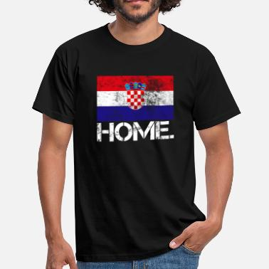 Zagreb Home Kroatien | Flagge | Used look - Männer T-Shirt
