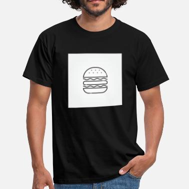Caricature Burger caricature for gourmets and burger lovers - Men's T-Shirt
