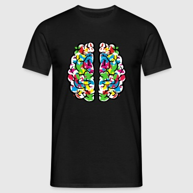 Creative colourful brain - T-skjorte for menn