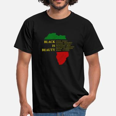 Empowerment Black is Beauty Black Pride - Africa Continent - Men's T-Shirt