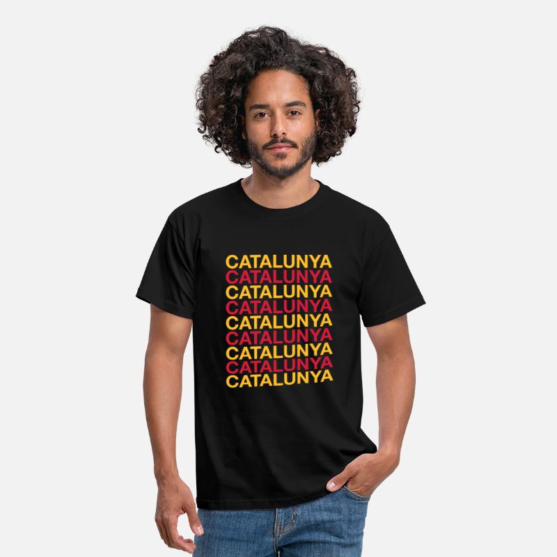 Barcelona T-Shirts - CATALONIA - Men's T-Shirt black