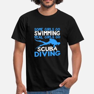 Scuba Diving Real Girls Scuba Diving Shirt - Herre-T-shirt