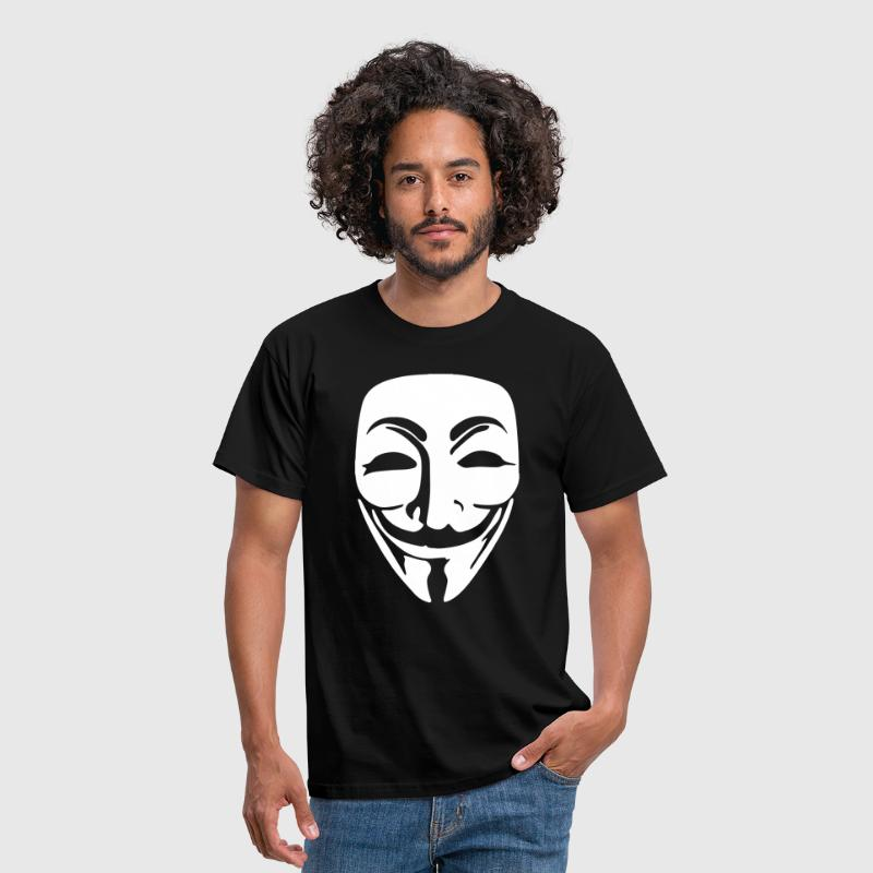 Anonymous Mask White Vector - Men's T-Shirt