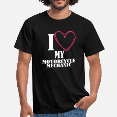 Motorcycle Love MOTORCYCLES BIKE MOTORCYCLE MECHANIC LOVE GIFTS - Men's T-Shirt