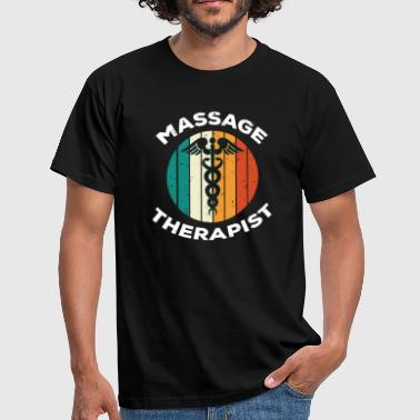 Slangestav Retro Vintage Massage Therapeut Caduceus T-shirt - Herre-T-shirt