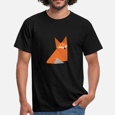 Origami Renard Origami fox Japon Chine animaux renard orange - T-shirt Homme