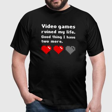 Video games ruined my life (dark) - Camiseta hombre