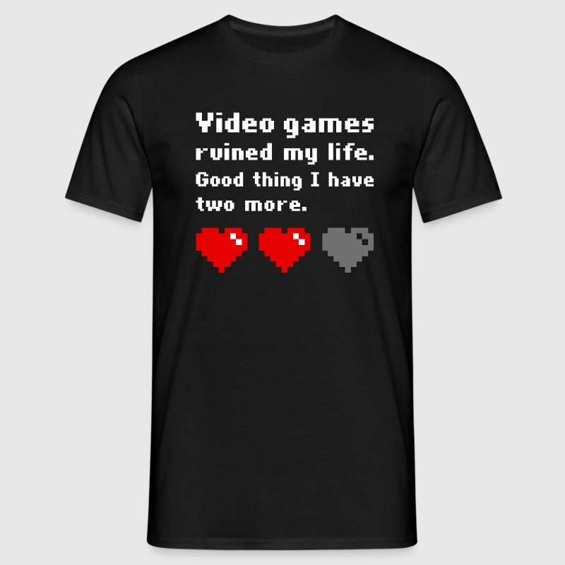 Video games ruined my life (dark) - Men's T-Shirt