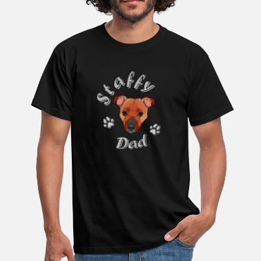 Staff Bull Staffordshire Bull Terrier - Dad - Men's T-Shirt
