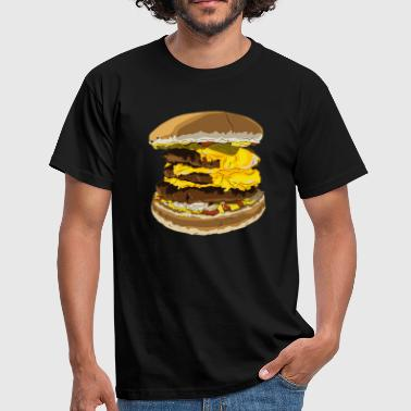 Triple Cheeseburger - Männer T-Shirt