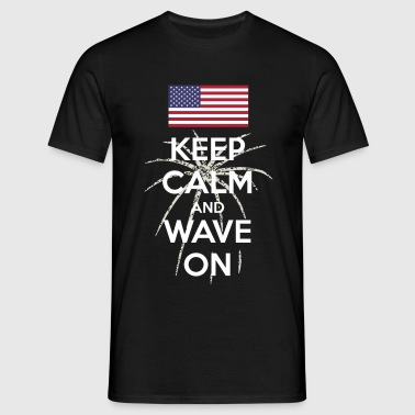 Keep Calm and Wave on (dark) - T-shirt Homme