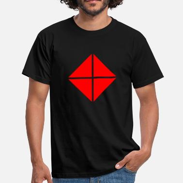 Red Square Four triangles - square red - Men's T-Shirt