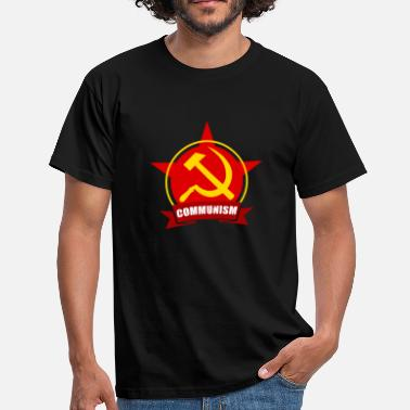 Red Army COMMUNISM Red Army Star Banner Badge - Men's T-Shirt