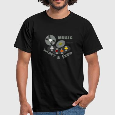 Music makes me happy free - Men's T-Shirt