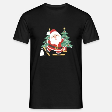 Christmas Nicholas Skiing Christmas Nicholas Christmas trees - Men's T-Shirt