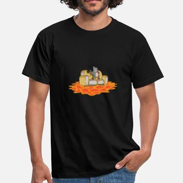Character Cat Cats Comic Animal Funny The floor is lava - Men's T-Shirt