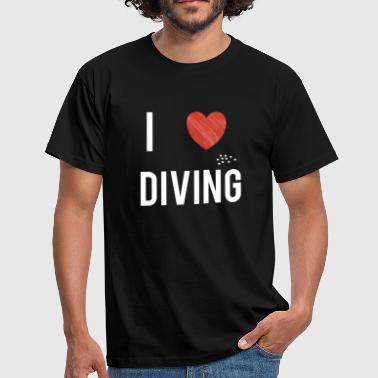 Koralrev Dykking Dykker Deep Sea Open Water Gift - T-skjorte for menn