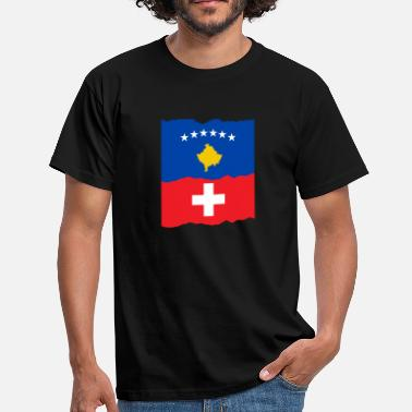 Kosovo Switzerland - Men's T-Shirt