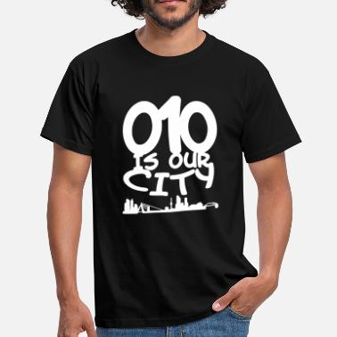 Rotterdam Skyline 010 is our city - Mannen T-shirt