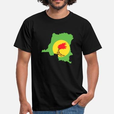 Zaire zaire flag and map - Men's T-Shirt