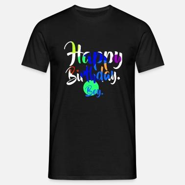 Happy Birthday Boy Weiss Manner Premium T Shirt