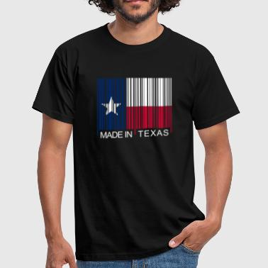 Made in Texas Barcode - T-shirt Homme
