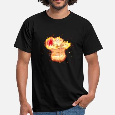 Pigskin Referee football burning - Men's T-Shirt