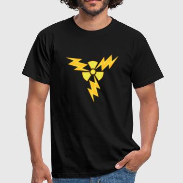 atom radioactive nuclear power electric shock hazard - Men's T-Shirt