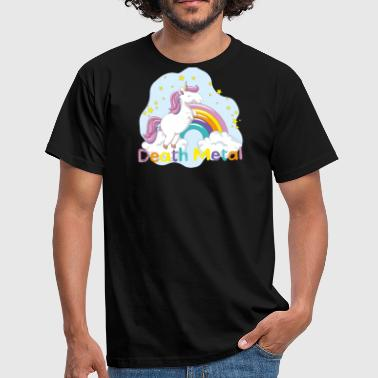 unicorn death metal - Mannen T-shirt