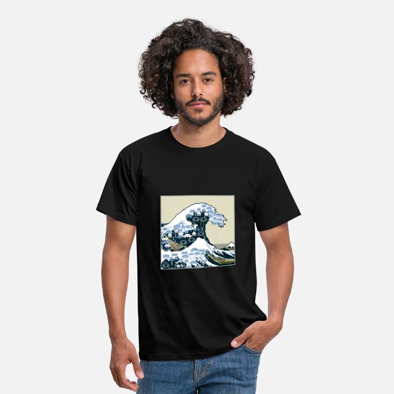 Geek T-shirts - Vague - T-shirt Homme noir
