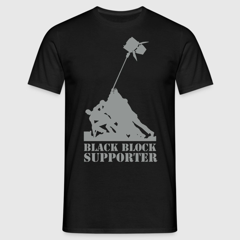 Black Block supporter - Männer T-Shirt