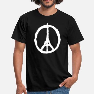 Fred For Paris PRAY FOR PARIS - PEACE FOR PARIS - Herre-T-shirt