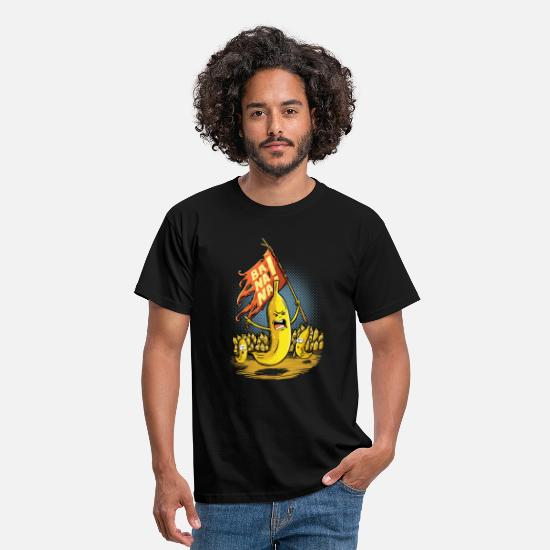 Funny T-Shirts - banana revolt - Men's T-Shirt black