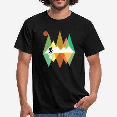 Yedi Bigfoot Retro Mountains Design - Herre-T-shirt