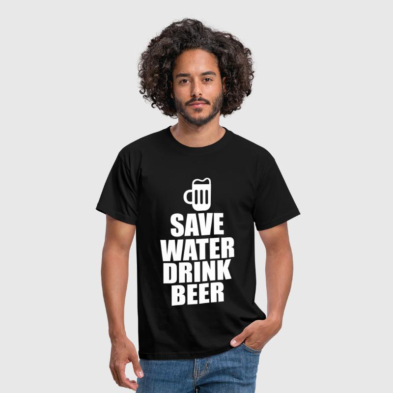 Alcohol Fun Shirt - Save water drink beer - Koszulka męska