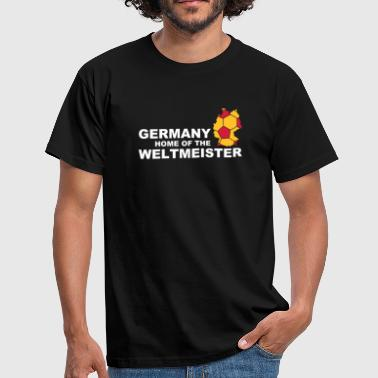 Kampioenschap Germany home of the weltmeister 2 - Mannen T-shirt
