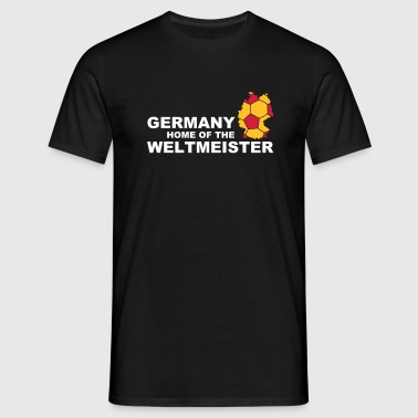 Germany home of the weltmeister 2 - Mannen T-shirt
